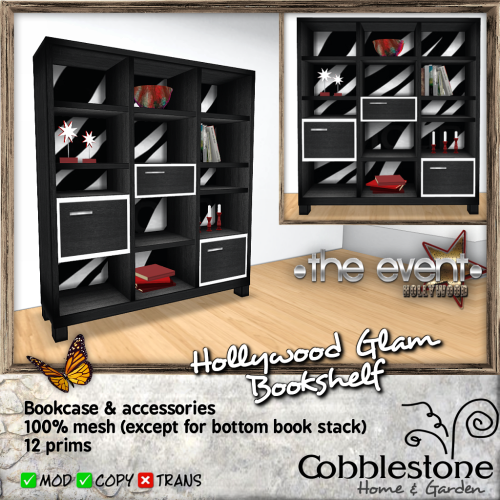 Cobblestone - Hollywood Glam Bookshelf Ad